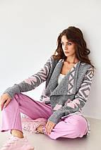 Вязаное женское пальто - Аризона, фото 2