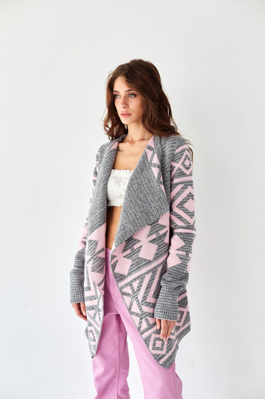 Вязаное женское пальто - Аризона