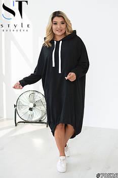 Стильное платье-туника oversize в спортивном стиле с 48 по 62 размер