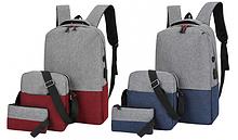 Набір рюкзак + сумка + клач