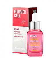 Ампульная сыворотка для лица Farm Stay DR.V8 Ampoule Solution Flower Cell 30мл