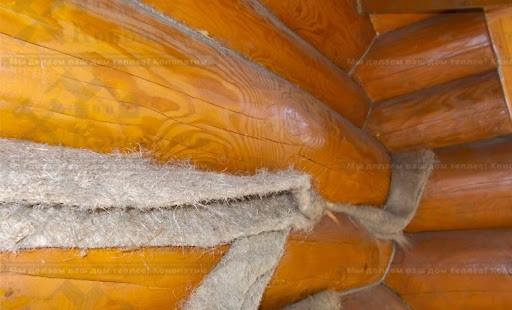 Конопатка деревянных домов, срубов, бань материал Лен/Джут