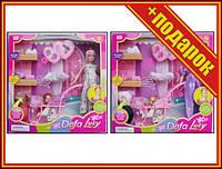 Кукла беременная типа Барби Defa Lucy 8049 с ребенком и аксессуарами,Кукла с длинными волосами,Семья