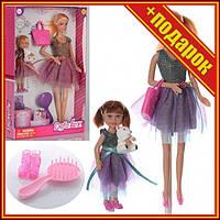 Кукла типа Барби с дочкой DEFA 8304 2 вида,Кукла с длинными волосами,Семья барби,Игрушечные куклы,Игрушечная