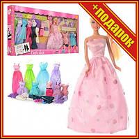 Кукла типа Барби DEFA 8193 с нарядами,Кукла с длинными волосами,Семья барби,Игрушечные куклы,Игрушечная