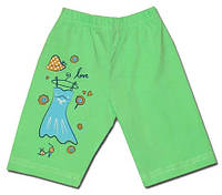 Удлиненные шорты для девочки салатового цвета, рост 92-98 см