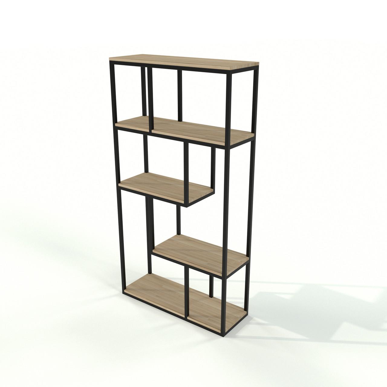 Loft стеллаж для офиса из натурального дерева