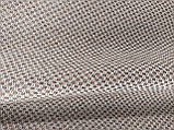 Обивочная ткань рогожка коричнево-белая (вит), фото 2
