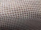Обивочная ткань рогожка коричнево-белая (вит), фото 3