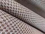 Обивочная ткань рогожка коричнево-белая (вит), фото 7