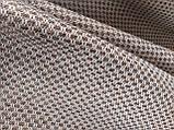 Обивочная ткань рогожка коричнево-белая (вит), фото 5