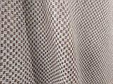 Обивочная ткань рогожка коричнево-белая (вит), фото 4