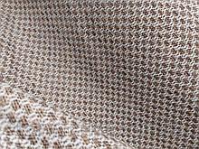Оббивна тканина рогожка коричнево-біла (віт)