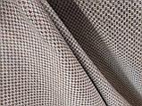 Обивочная ткань рогожка коричнево-белая (вит), фото 8