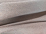 Обивочная ткань рогожка коричнево-белая (вит), фото 6