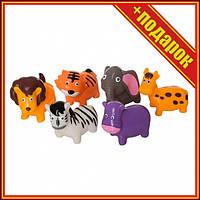 Ігровий набір Тварини T12013-T12013-1 Бризкають (Дикі тварини),Фігурки лісових тварин,Гумовий набір диких