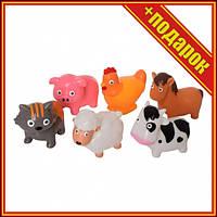 Ігровий набір Тварини T12013-T12013-1 Бризкають (Домашні тварини),Фігурки лісових тварин,Гумовий набір
