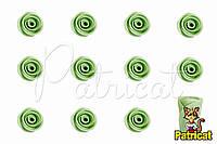 Бутоны Роз Салатовые из фоамирана (латекса) 1 см 10 шт/уп