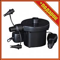 Электрический насос для резиновых изделий Bestway 62083 с насадками,Компрессор для матраса,Надувной матрас со