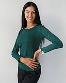 Медичний лонгслив жіночий темно-зелений