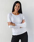 Медичний лонгслив жіночий білий