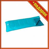Спальный мешок односпальный BW 68099 в чехле (Голубой),Спальни мешок,Спальный мешок для рыбалки,Спальный