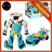 Дитячий трансформер D622-H04 робот+машинка (Блакитна ),Іграшки трансформерів,Роботи машинки,Тоботы