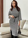 Костюм джемпер и юбка в гусиную лапку черный, фото 2