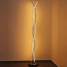 Торшер Lesko YL011 Spiral Black світлодіодний підлоговий декоративна лампа для читання спальні