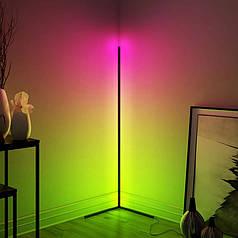 Торшер Lesko YL6002 RGB+Пульт ДУ підлоговий кутовий світильник з підсвічуванням