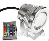 Светильник подводный LED RGB IP67 10W 12V  с пультом, фото 2