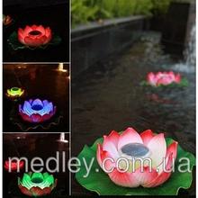 Подсветка для бассейна - плавающий лотос на солнечной энергии