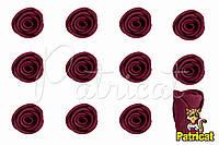 Бутоны Роз Бордовые из фоамирана (латекса) 1 см 10 шт/уп