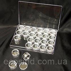 Баночки пластиковые 24шт. (контейнер, органайзер) (СИНДТЕКС-1017)