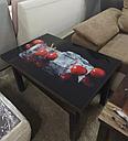 Стол трансформер Флай  венге магия со стеклом 04_465, журнальный обеденный, фото 9