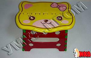 Детский складной пластиковый стульчик Котенок, h=18см