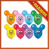 Кулька латексна GPF0 20 Миша (50шт/уп),Шарики сердечки фольгированные,Шарики на день рождения,Шарик