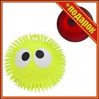 """Шар-светяшка """"Глазастик"""", желтый,Светящиеся игрушки для детей,Игрушки антистресс для детей,Силиконовые ночники"""