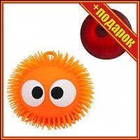 """Шар-светяшка """"Глазастик"""", оранжевый,Светящиеся игрушки для детей,Игрушки антистресс для детей,Силиконовые"""