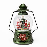 """Музыкальный снежный шар """"Рождественский фонарь"""", 19,5 см."""