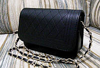Стильная сумка в стиле Chanel (Шанель) черная.