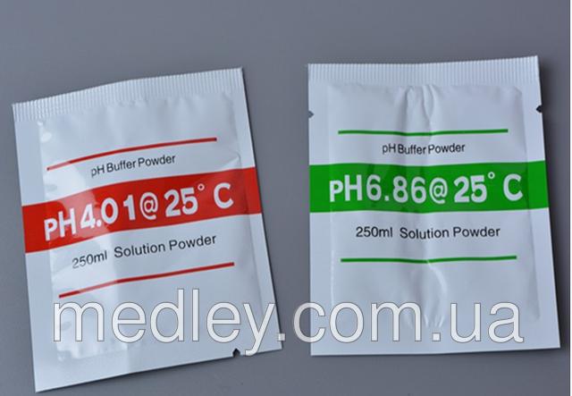 Буферный порошок pH 6.86 и pH 4.00 для калибровки РН - метра