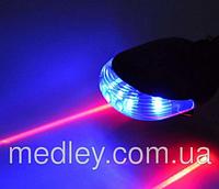 Велосипедный стоп фонарь синий с лазерной дорожкой, фото 1