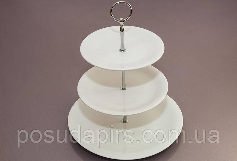 Блюдо трёхуровневое (28*21*18 см) F2766