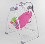 Заколисуючий центр дитячий з пультом JOY 3в1 CX-30858 Дитяче крісло-гойдалка з пультом рожевий, фото 2