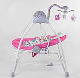 Заколисуючий центр дитячий з пультом JOY 3в1 CX-30858 Дитяче крісло-гойдалка з пультом рожевий, фото 6