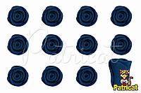 Бутоны Роз Сланцевые из фоамирана (латекса) 1 см 10 шт/уп