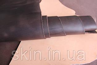 """Натуральная кожа """"Крейзи Хорс"""" коричневого цвета, толщина 1.5 мм, арт. СК 1169"""
