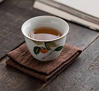 Чайний набір портативний складаний 2 чашки 150 мл жучжоуский фарфор з хурмою, фото 4