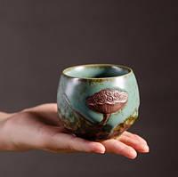 Чашка для чаепития с лотосом, фото 3